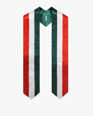 National Flag Graduation Stole Embroidery Sash for Study Aboard International Student-Italy