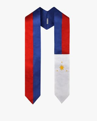 National Flag Graduation Stole Embroidery Sash for Study Aboard International Student-Philippines