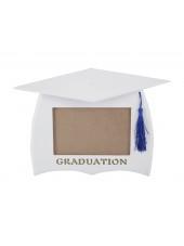 Wooden Graduation Photo Frame - White