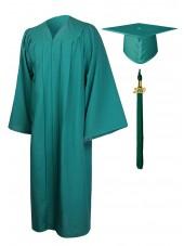 Economy Bachelor Graduation Gown Cap Tassel Package -Emerald Green