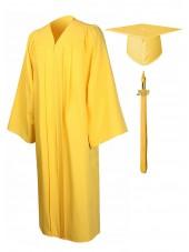 Economy Bachelor Graduation Gown Cap Tassel Package -Gold