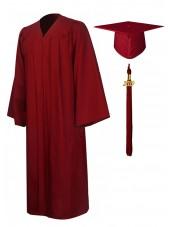 Economy Bachelor Graduation Gown Cap Tassel Package -Maroon