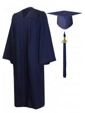 Economy Bachelor Graduation Gown Cap Tassel Package -Navy Blue