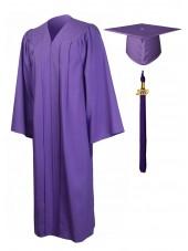 Economy Bachelor Graduation Gown Cap Tassel Package -Purple