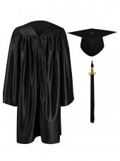 Kindergarten Graduation Cap Gown Package--Black