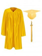 Shiny Kindergarten & Preschool Graduation Cap Gown - Gold