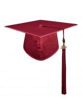 Maroon Shiny Adult Graduation Cap