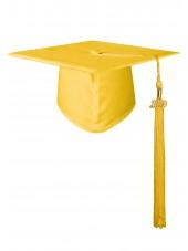 High school Matte Adult Graduation Cap with Tassel- Gold