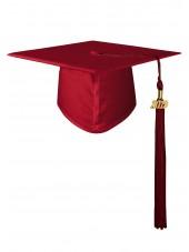 High School Matte Adult Graduation Cap with Tassel- Maroon