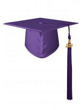High School Matte Adult Graduation Cap with Tassel - Purple