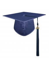 Navy Blue Adult Graduation Cap With Hard Board