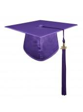 Purple Adult Graduation Cap With Hard Board