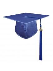 Royal Blue Adult Graduation Cap With Hard Board