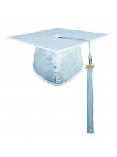 Sky Blue Adult Graduation Cap With Hard Board