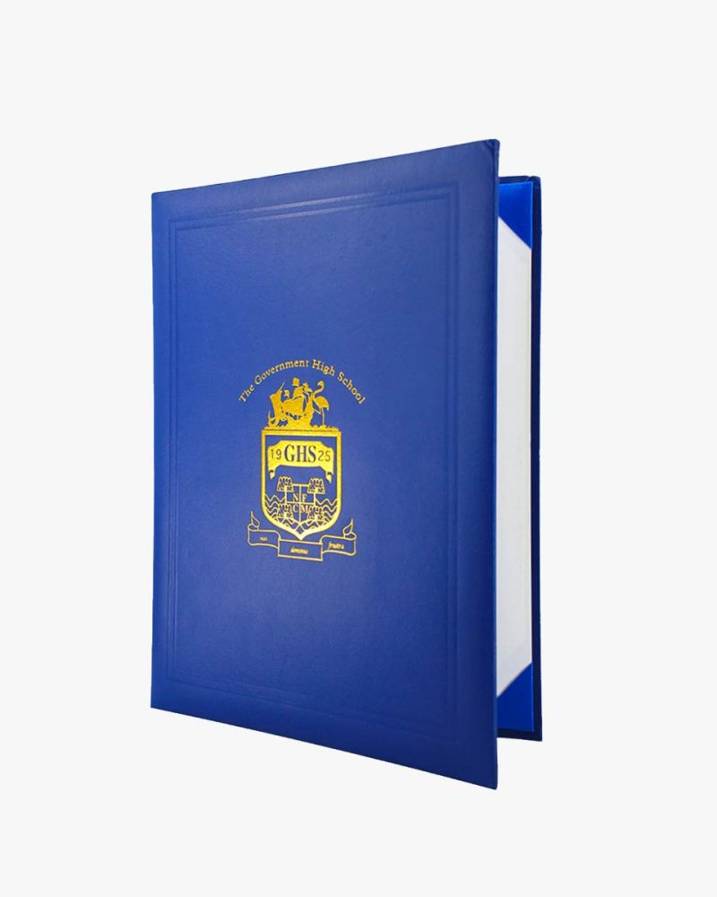 Custom Diploma Covers With Text Or Logos Skin Leatherette