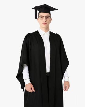 Classic Gathered Bachelor Graduation Gown & Mortarboard