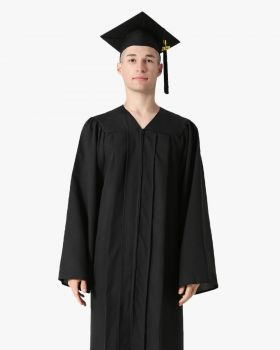 Premium Matte Graduation Cap, Gown & Tassel Package - 12 Colors Available