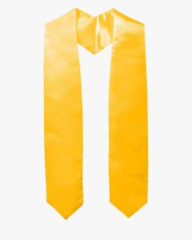 Plain Graduation Stole - 16 Colors Available