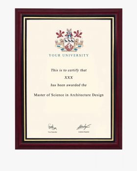 Solid Wood A4 Certificate Document Frame